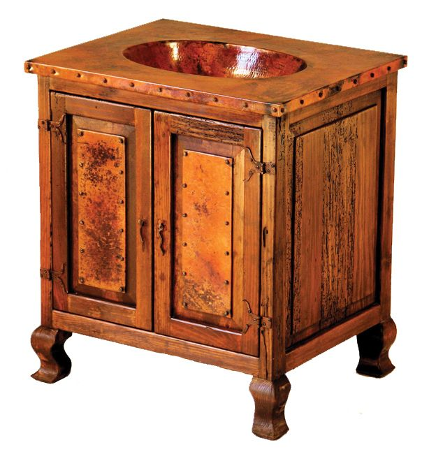 Two-Door Sink Cabinet with Copper