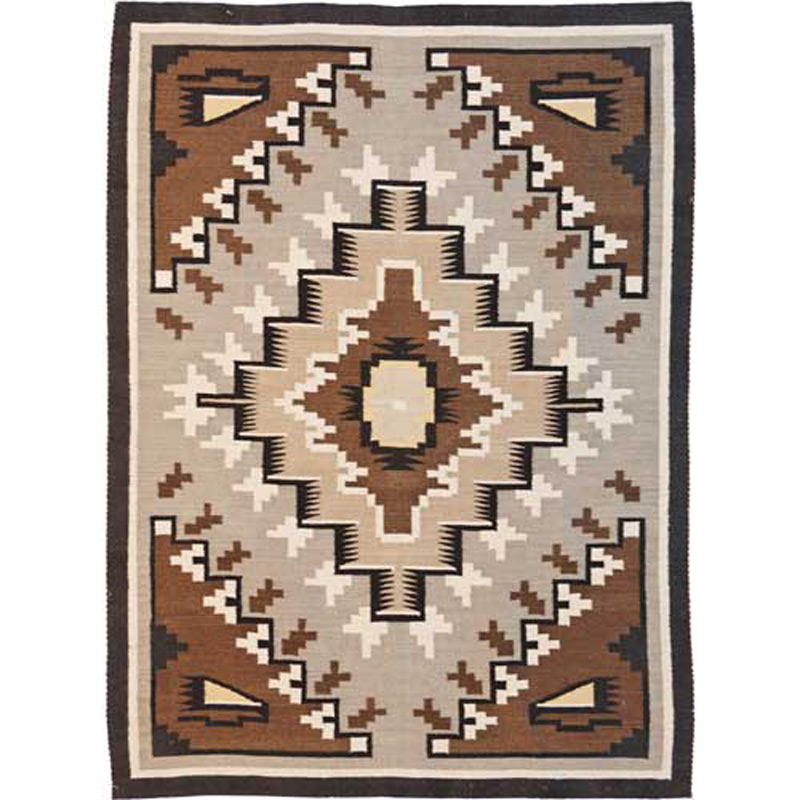 Two Gray Hills Brown Rug - 3 x 5