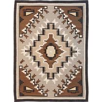Two Gray Hills Brown Rug - 3 x 8