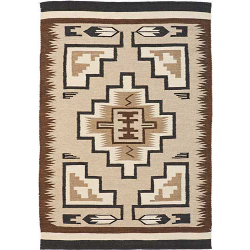 Two Gray Hills Tan Rug - 4 x 6 - OVERSTOCK