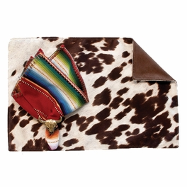 Udder Madness Milk Placemats with Suave Chocolate Back - Set of 4