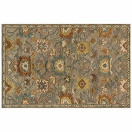Underwood Taupe Blue Rug Collection
