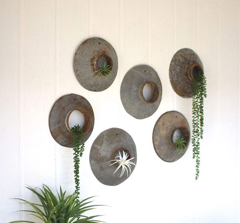 Upcycled Iron Wall Hangings - Set of 6
