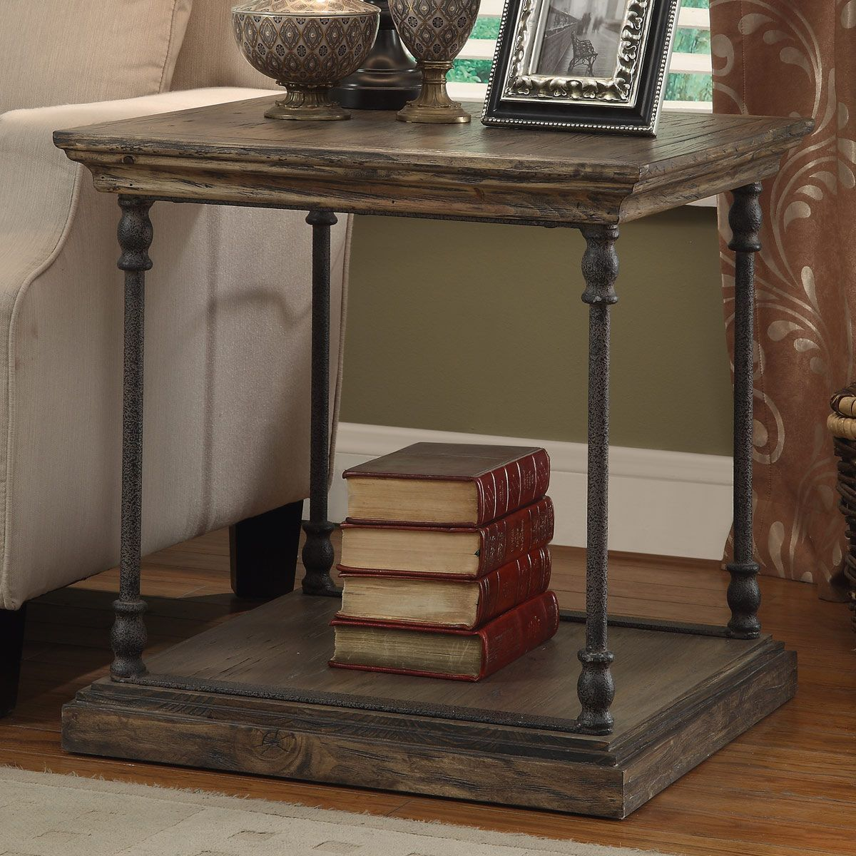 Upcycled Slab End Table