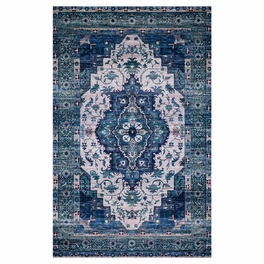 Upland Ivory & Turquoise Rug Collection