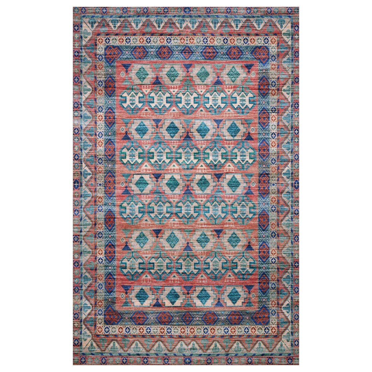 Upland Terracotta Sunset Rug - 2 x4