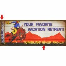 Vacation Retreat Personalized Sign - 17 x 44