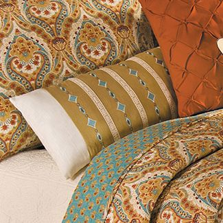 Valencia Embroidered Diamond and Crochet Pillow