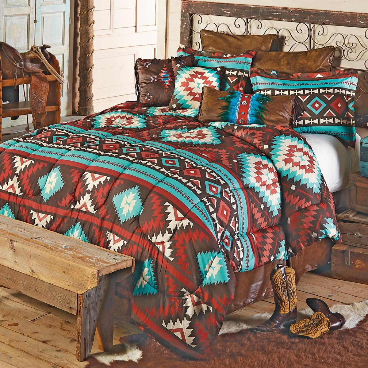 Valencia Southwestern Bed Set - Queen - OUT OF STOCK UNTIL 5/1/2021