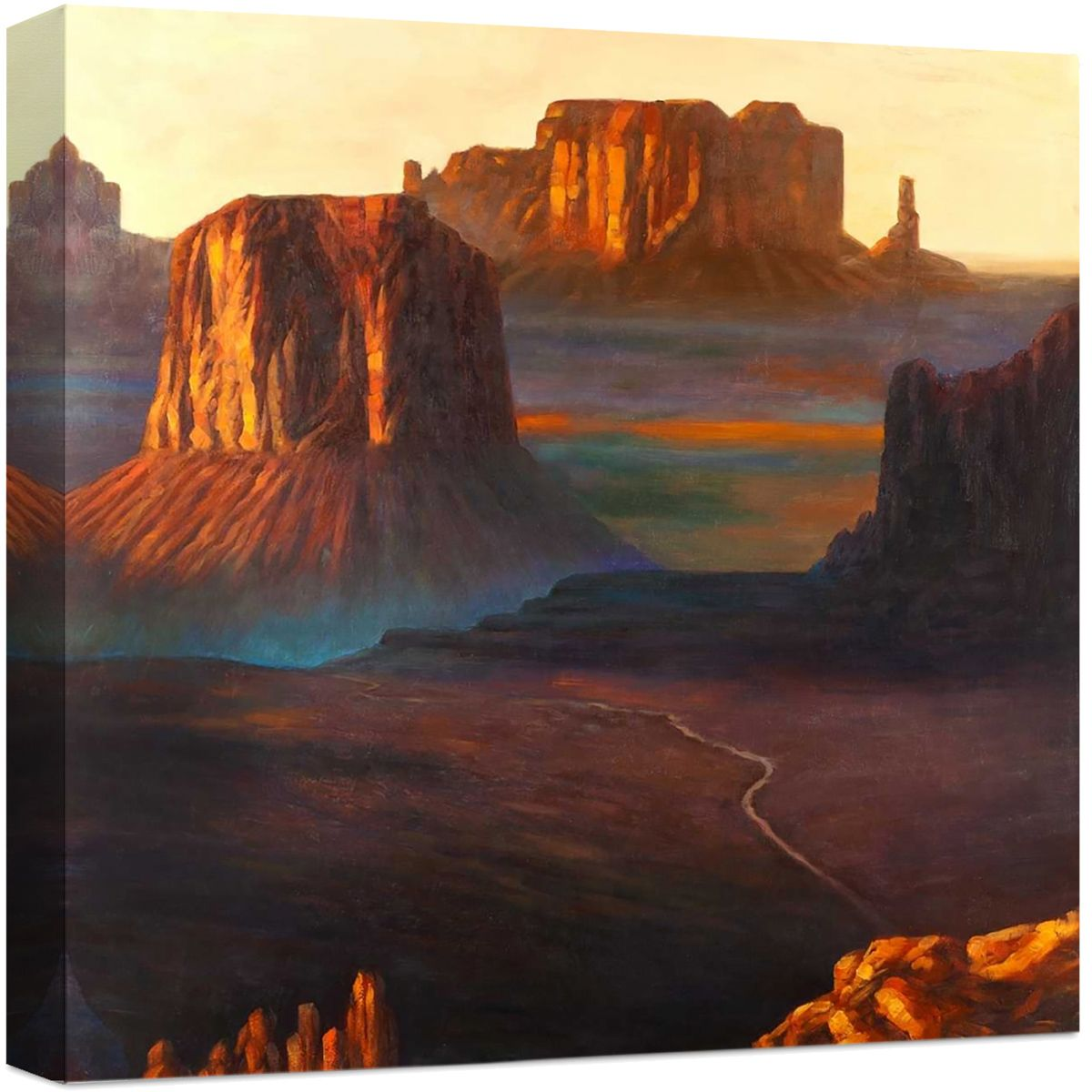 Valley Sunset Canvas Art