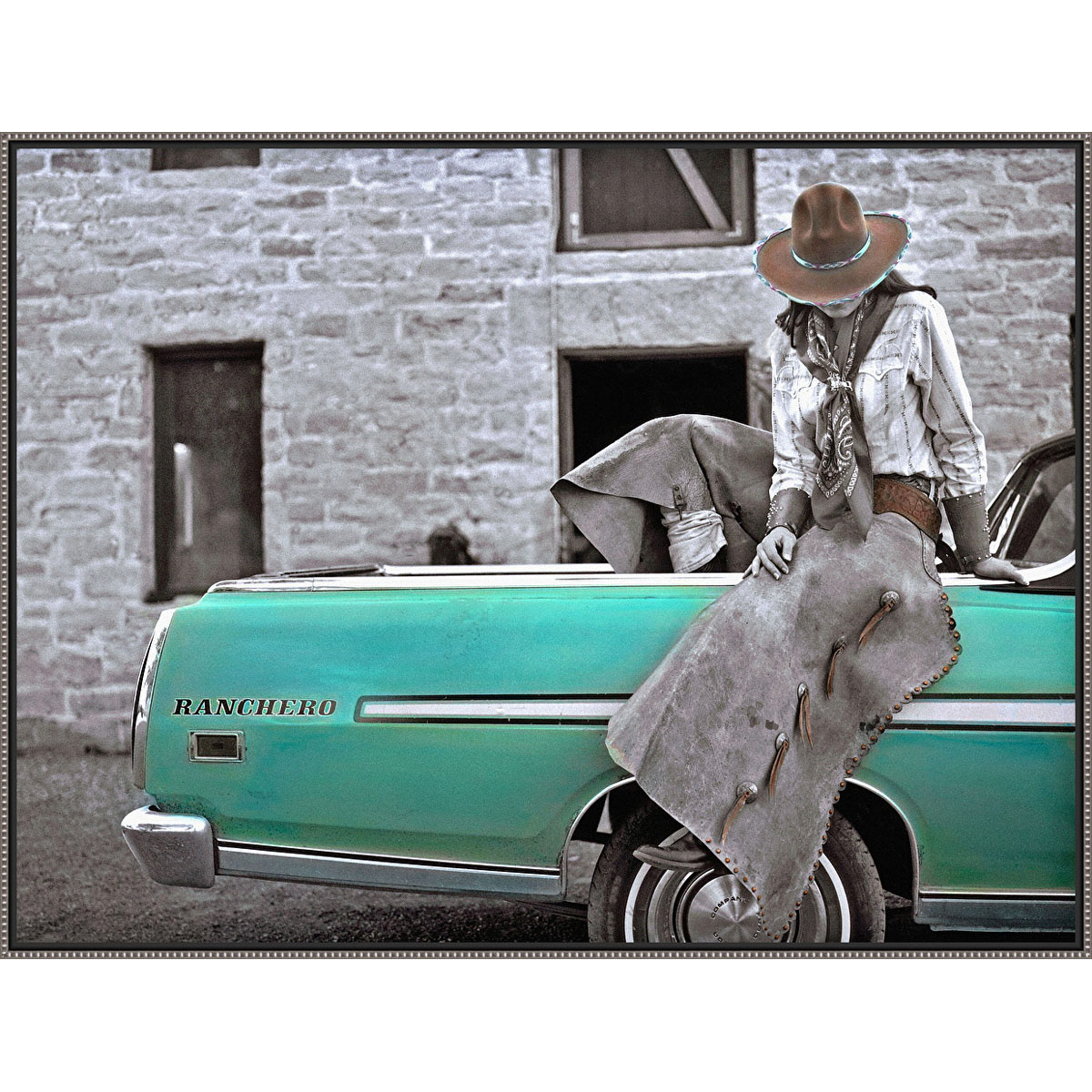 Vibrant Ranchero Framed Canvas