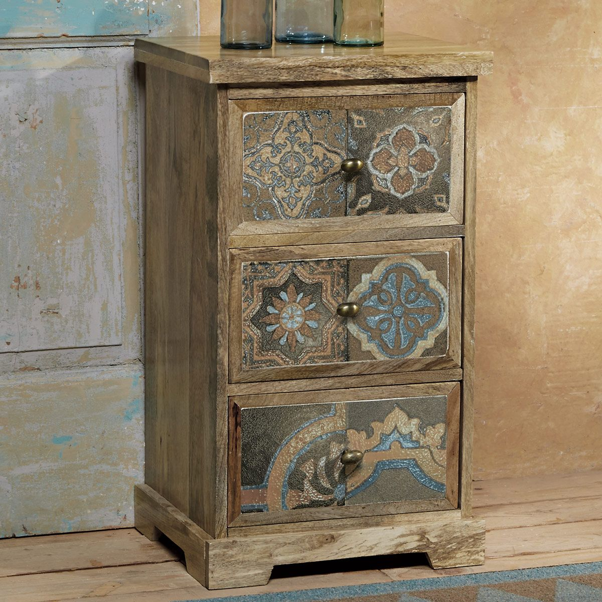 Viejo Tiles 3 Drawer Chest/Nightstand