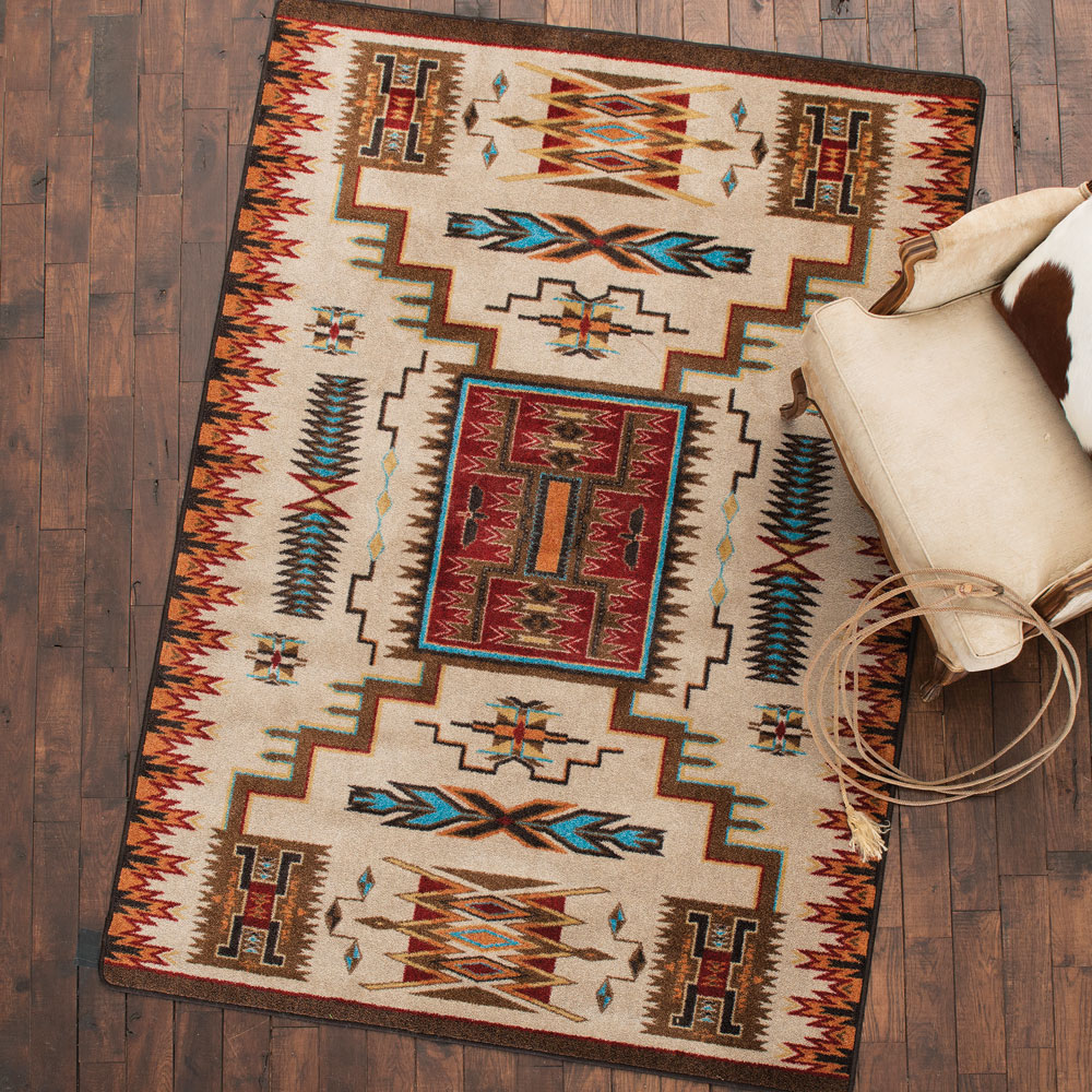 Vision Catcher Rust Rug - 3 x 4