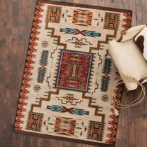 Vision Catcher Rust Rug - 8 x 11