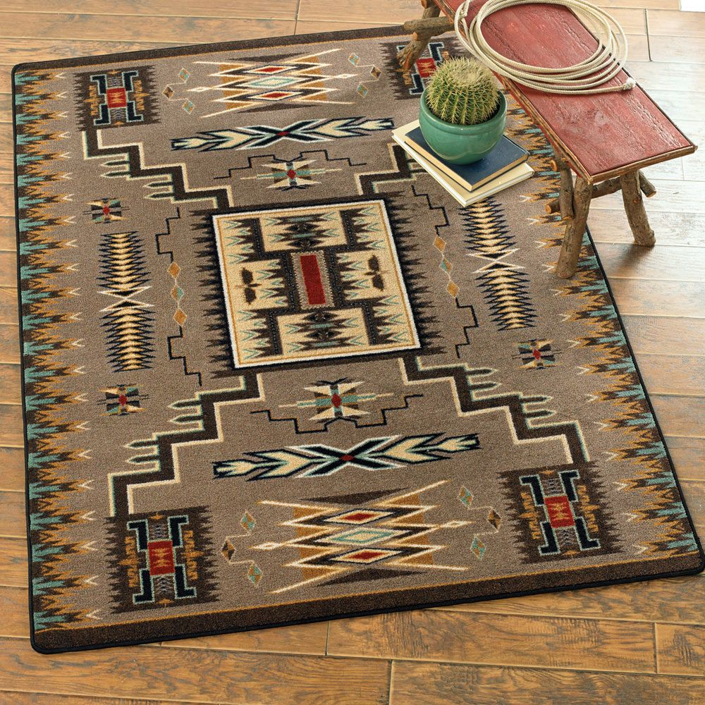 Vision Catcher Turquoise Rug - 3 x 4