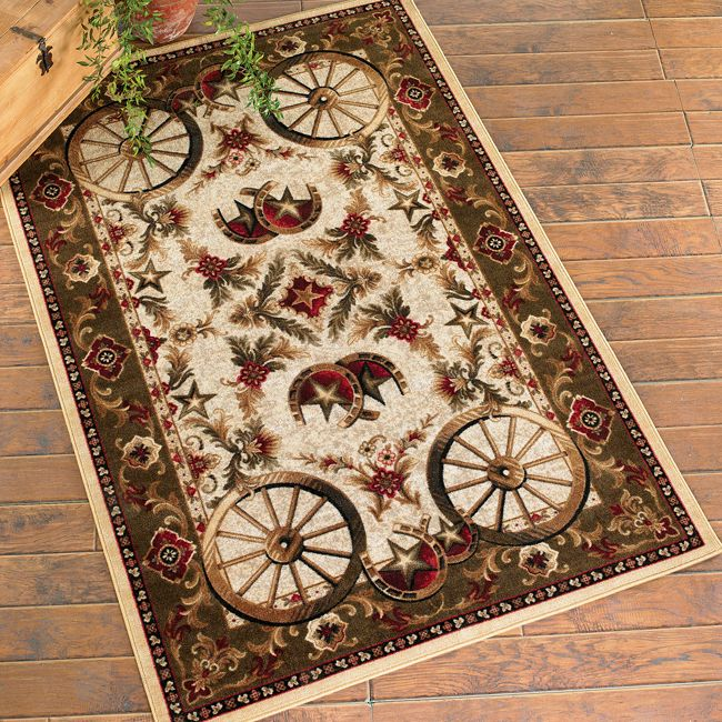 Wagon Wheel Rug - 5 x 8