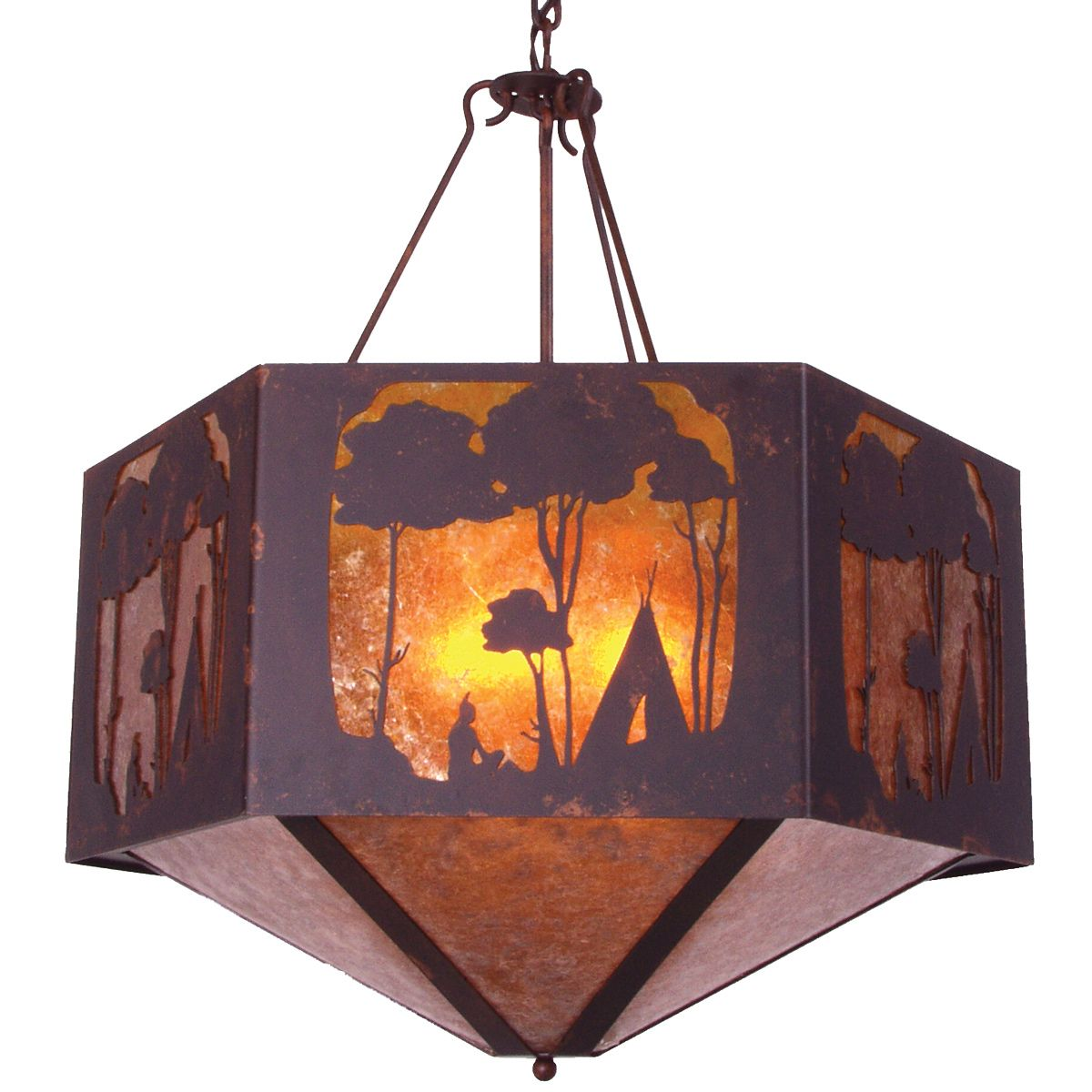 Wallowa Rust Chandelier