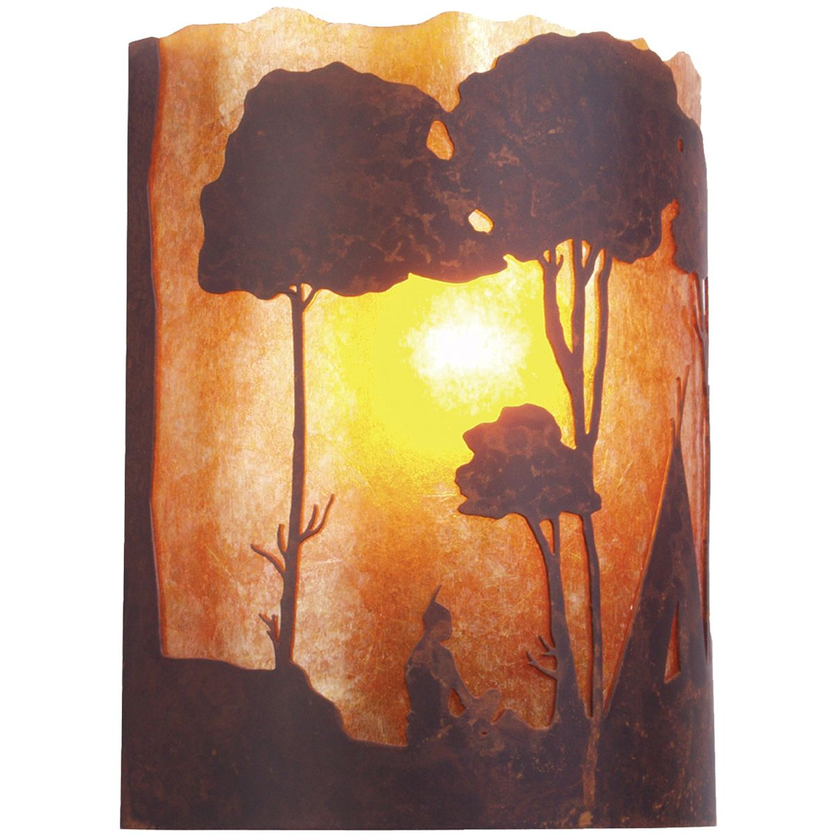 Wallowa Rust Wall Sconce