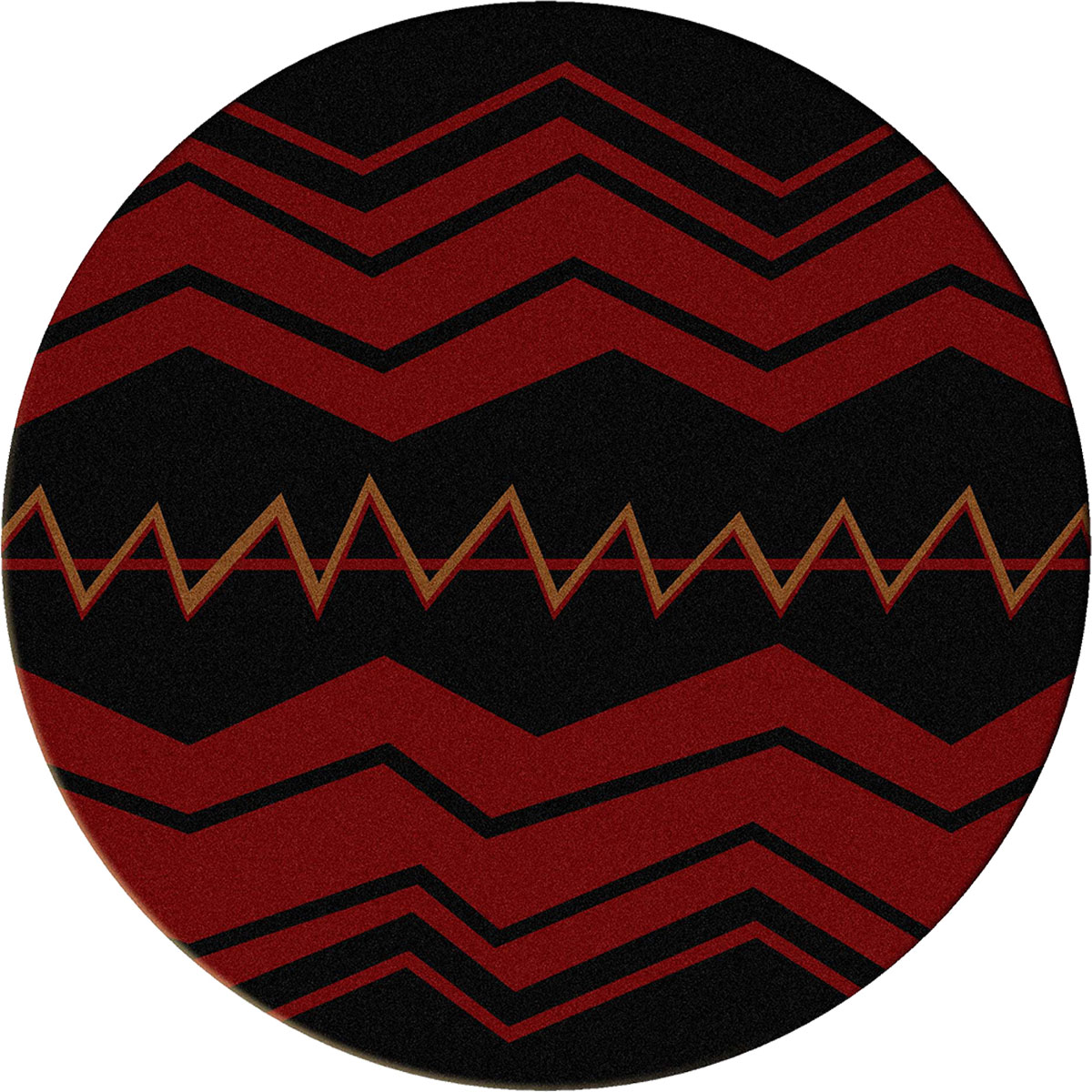 War Path Black Rug - 8 Ft. Round