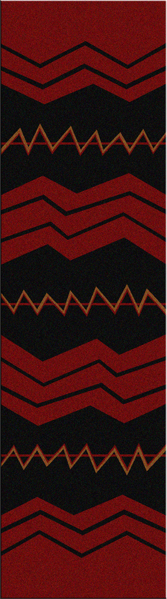 War Path Red Rug - 2 x 8