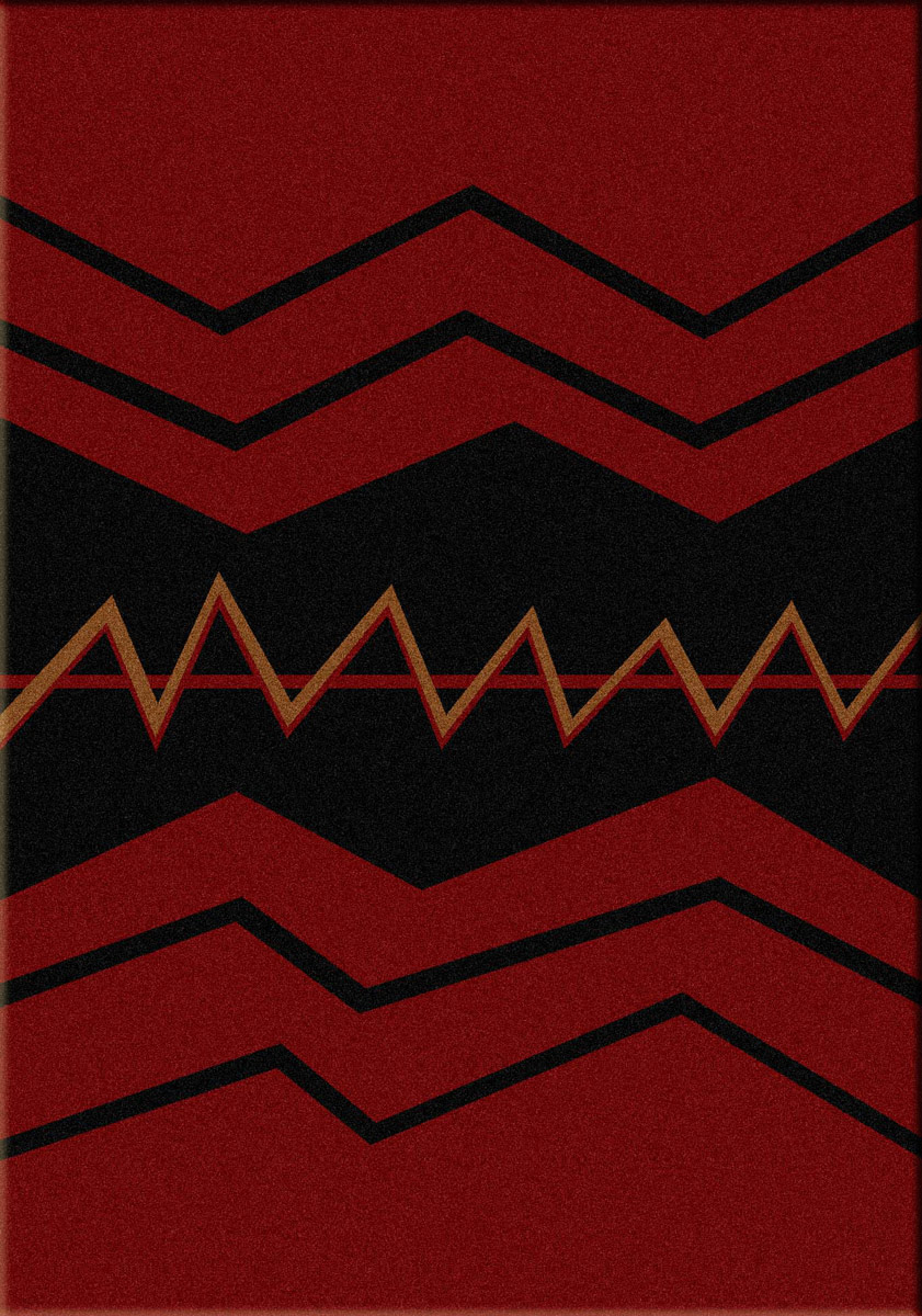 War Path Red Rug - 3 x 4