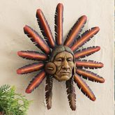 Warrior Chief 3-D Sculpture Wall Art
