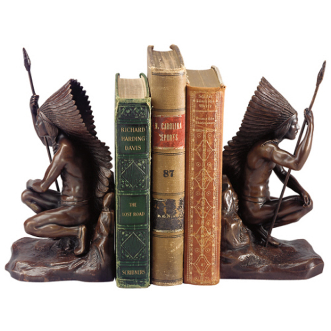 Warrior Chief Bookends - Set of 2