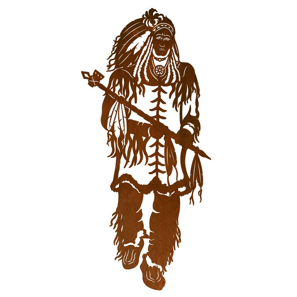 Warrior Chief Metal Wall Art