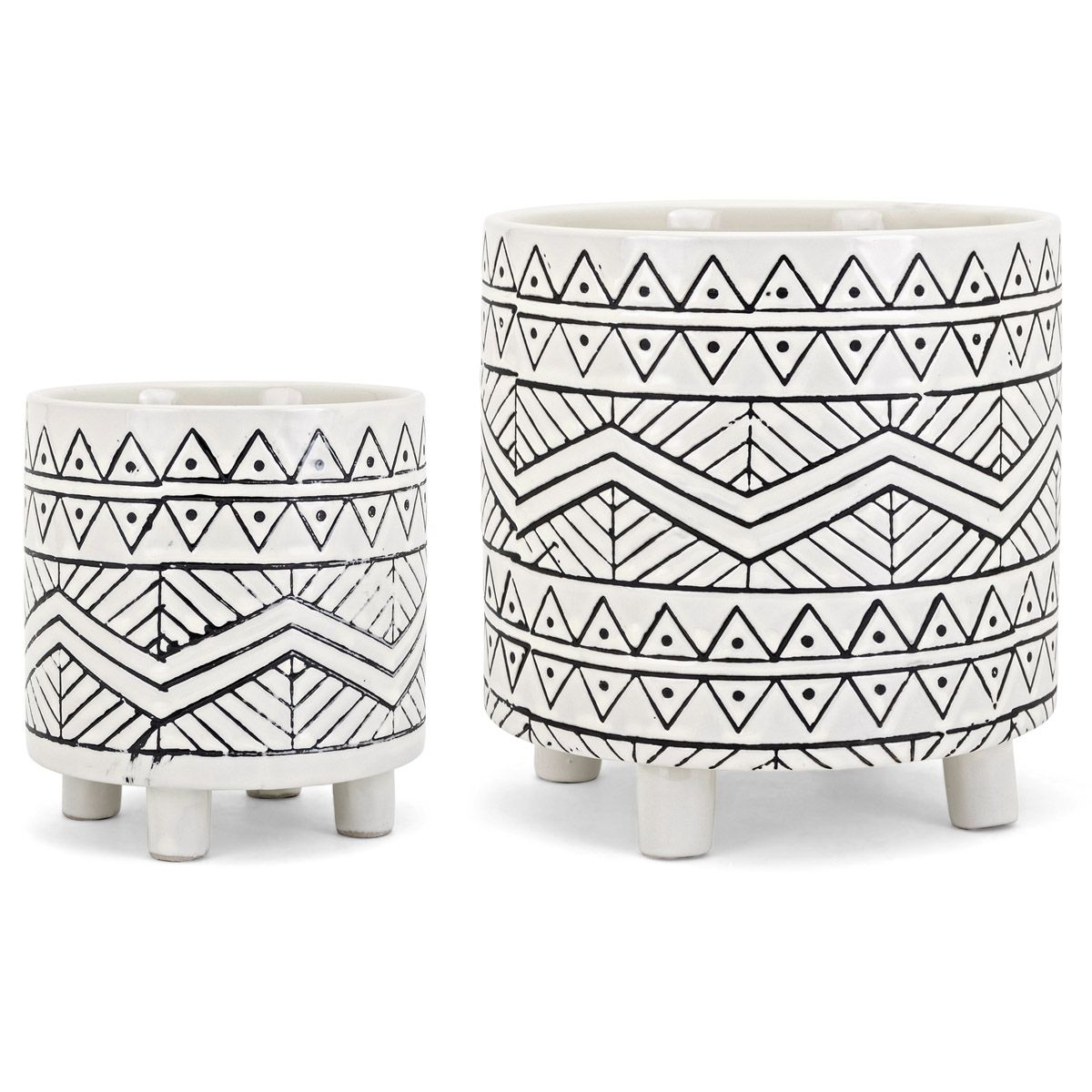 Warrior Lines Planters - Set of 2