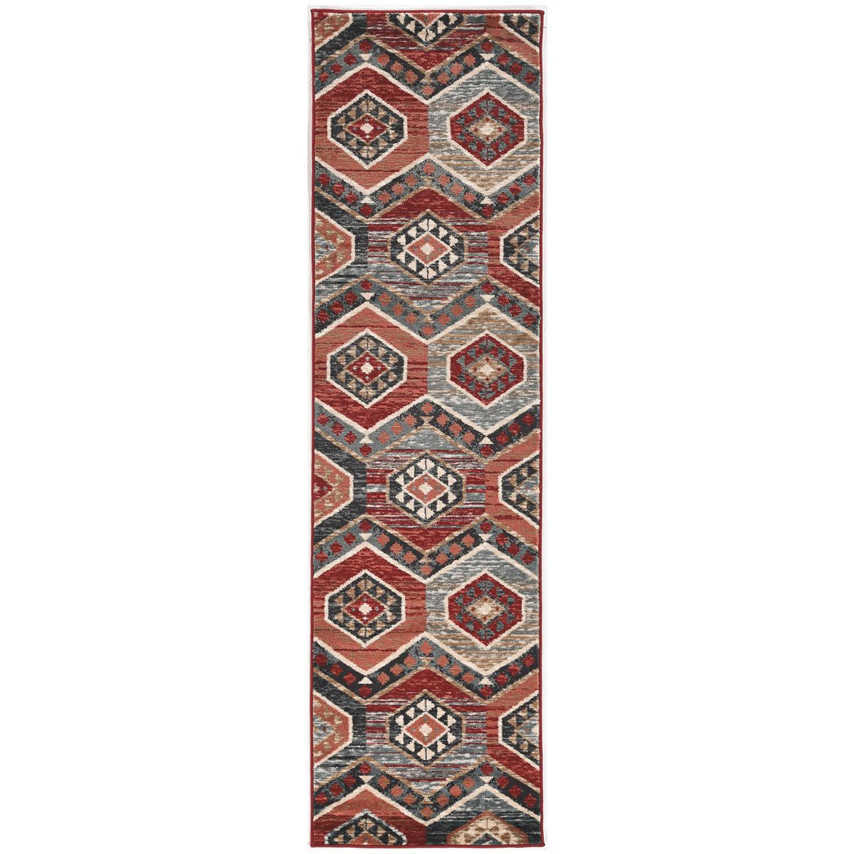 Wasatch Red Rug - 2 x 8