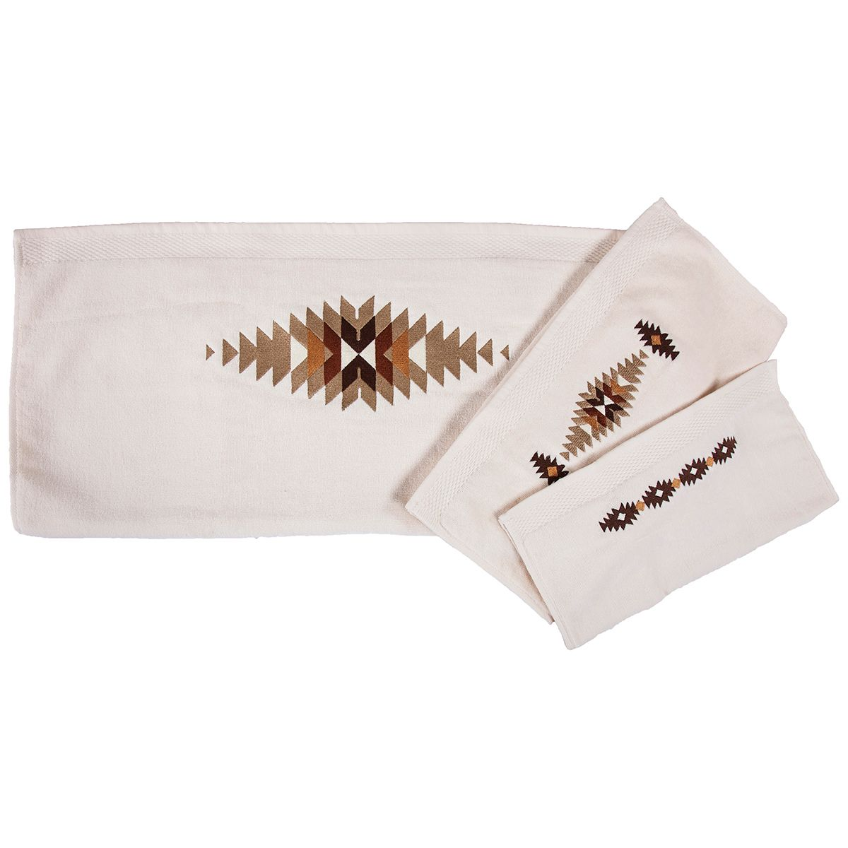 Washburn Embroidered Towel Set - Cream