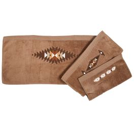 Washburn Embroidered Towel Set - Mocha