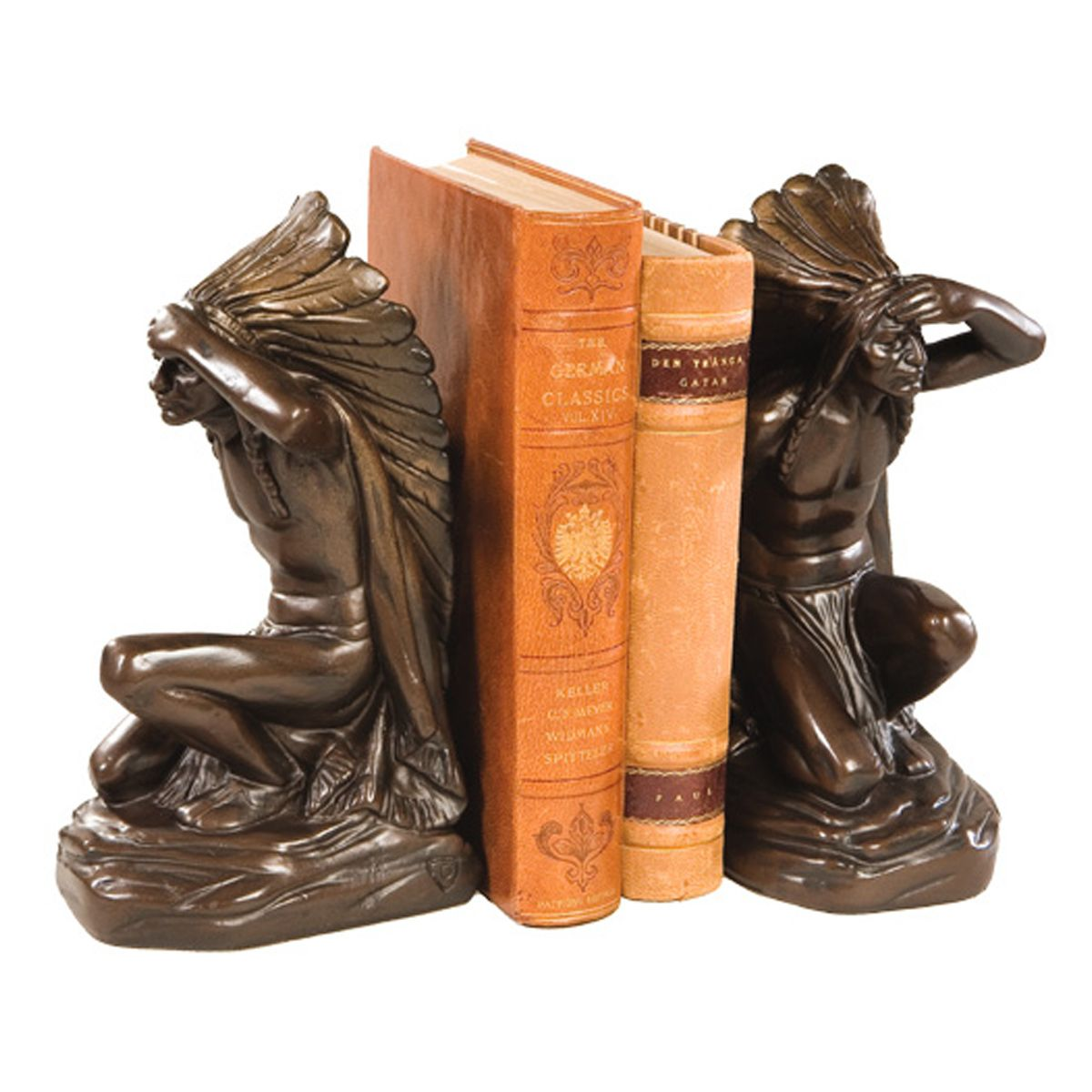 Watchful Chief Bookends