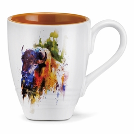 Watercolor Buffalo Mug