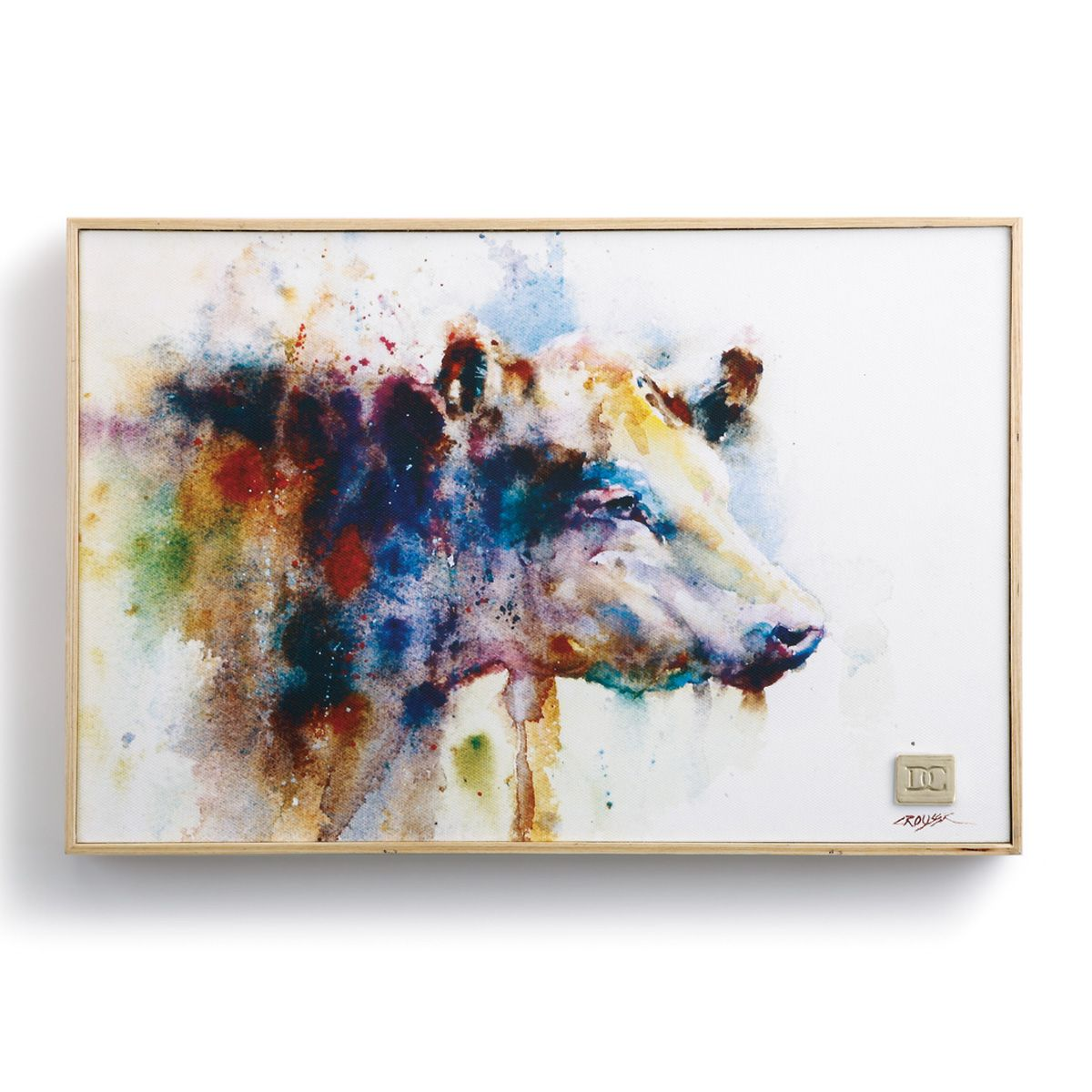 Watercolor Cow Framed Wall Art