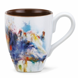 Watercolor Cow Mug
