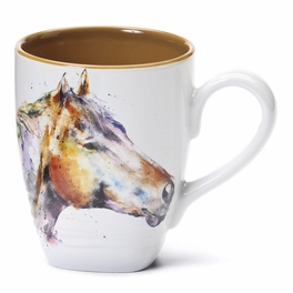 Watercolor Horse Profile Mug