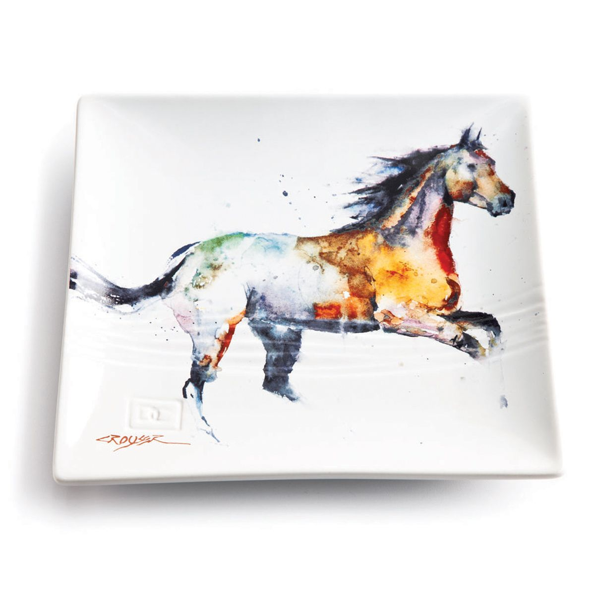 Watercolor Horse Snack Plate