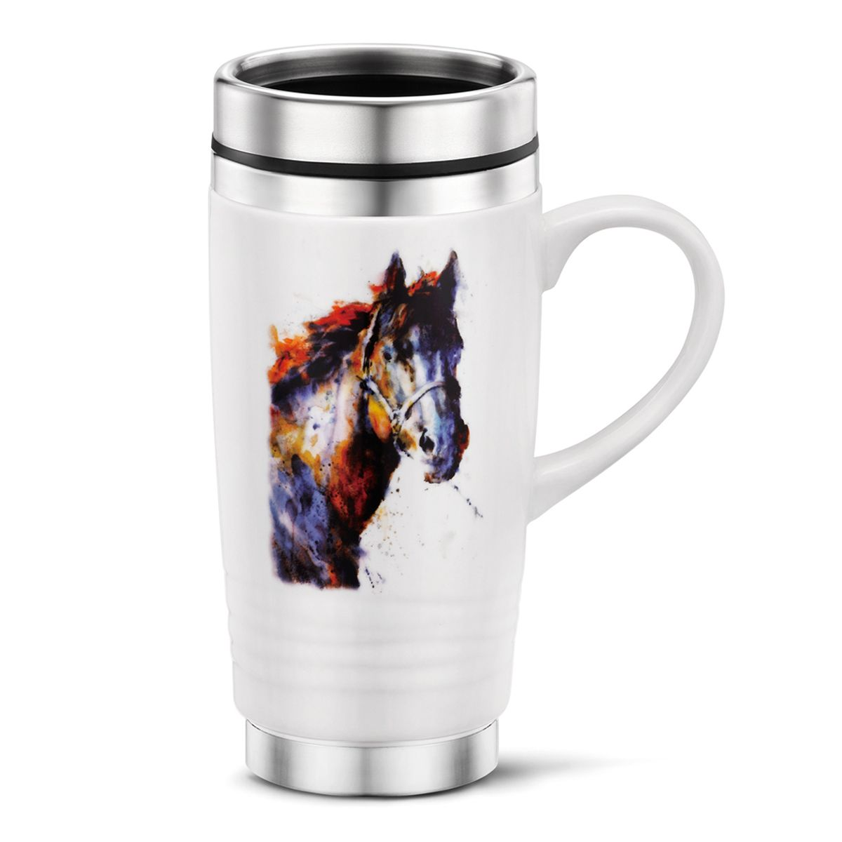 Watercolor Horse Travel Mug