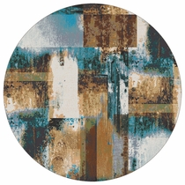Watercolor Rust Rug -�8 Ft. Round