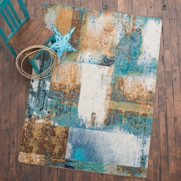 Watercolor Rust Rug Collection