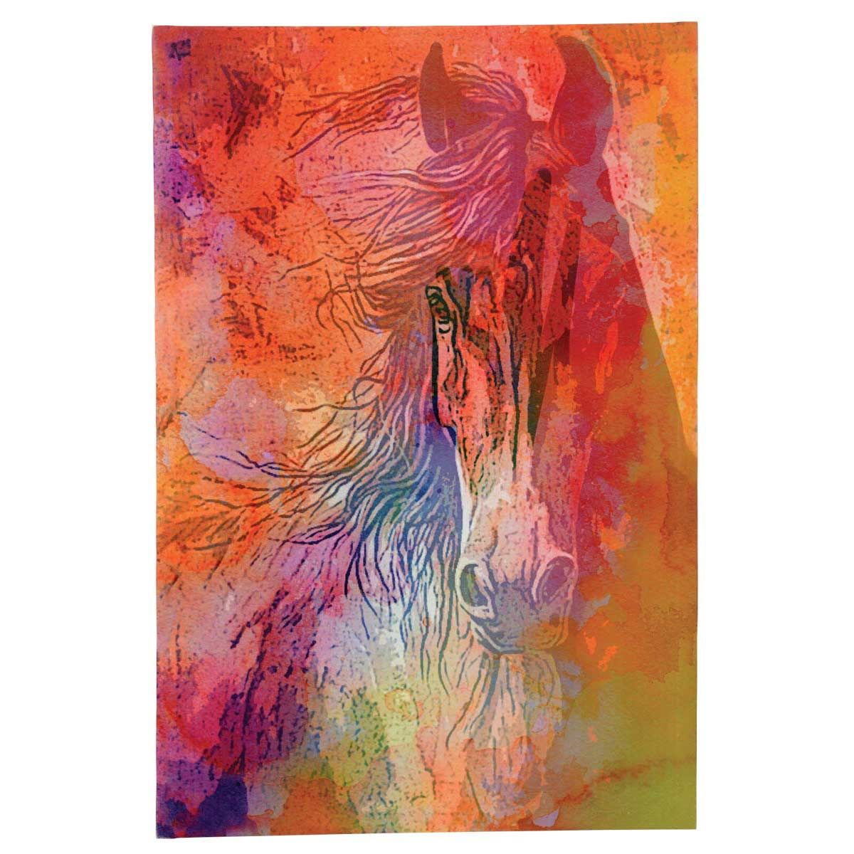 Watercolor Stallion Canvas Art