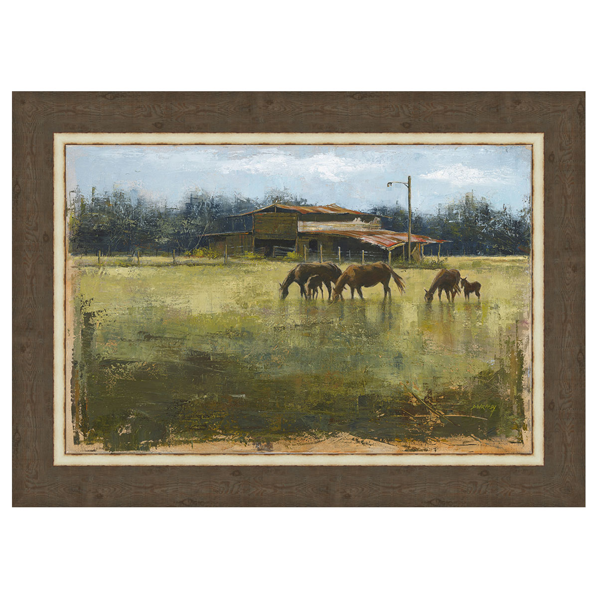 Weathered Barn Framed Canvas
