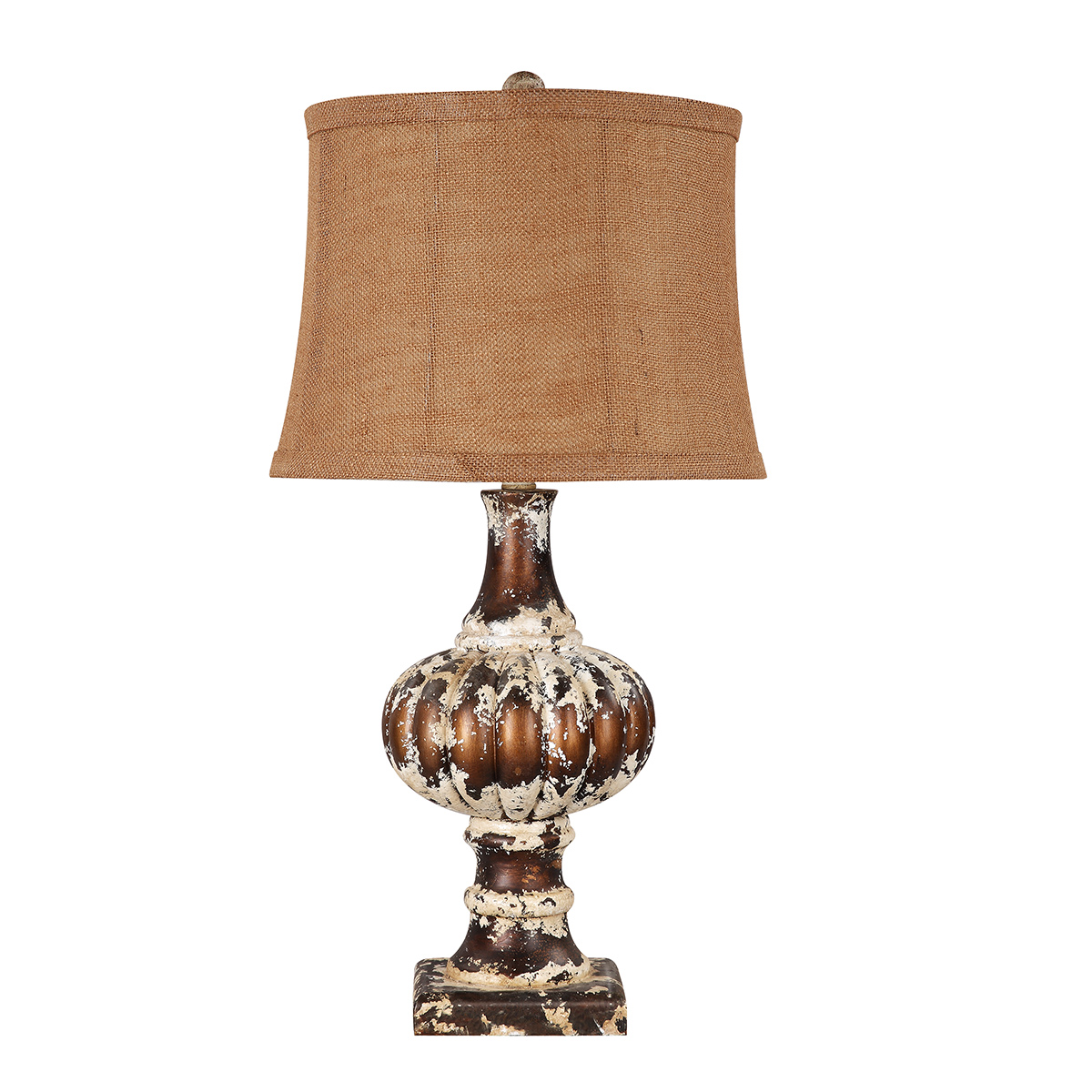 Weathered Brass Table Lamp