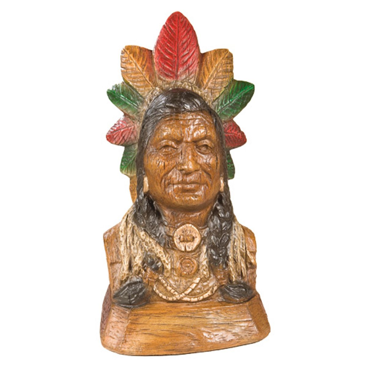 Weathered Chief Sculpture