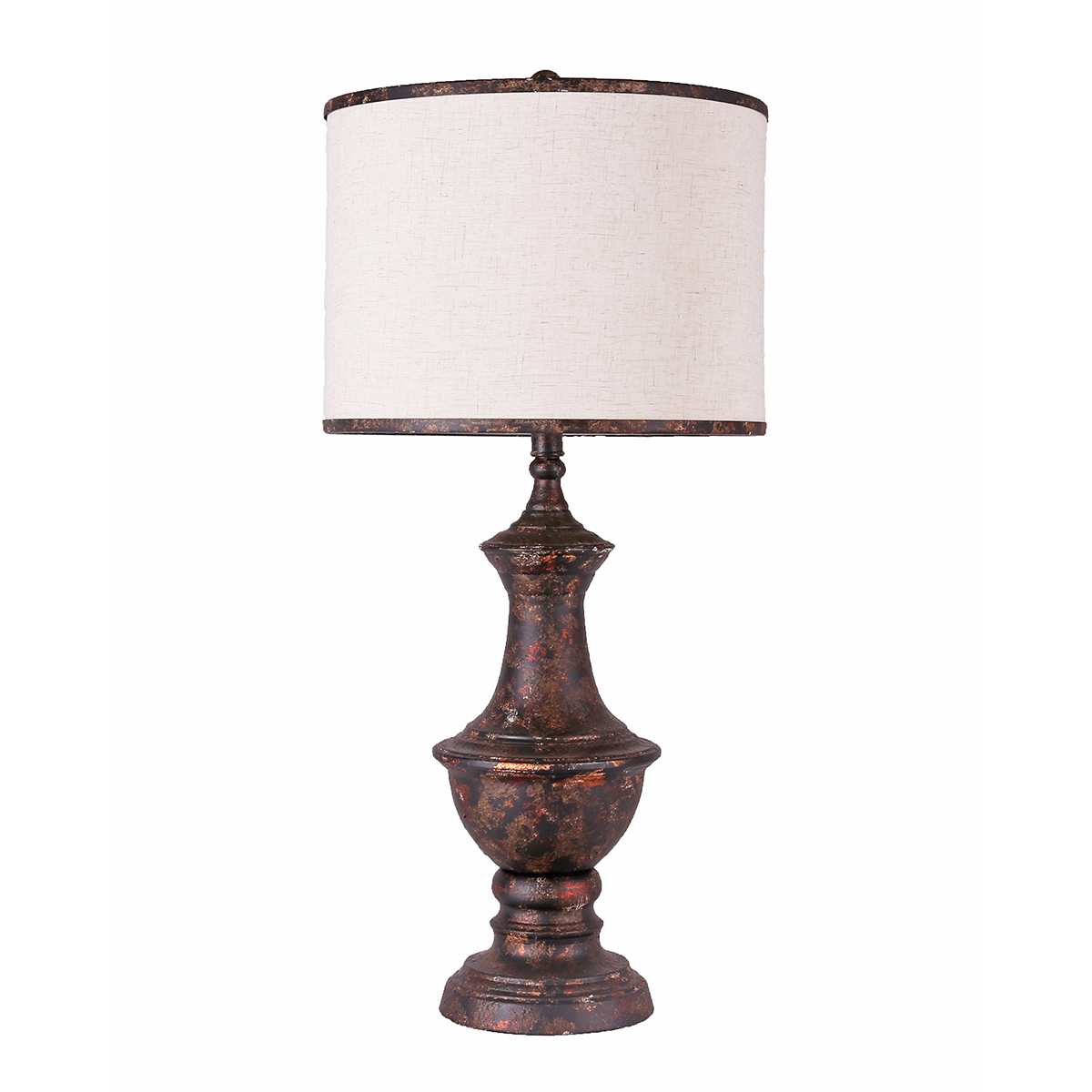 Weathered Copper Table Lamp
