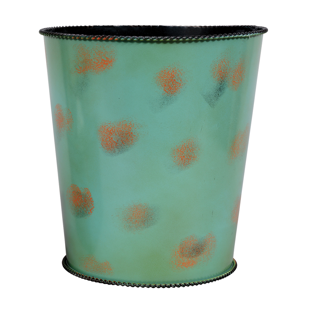 Weathered Turquoise Waste Basket