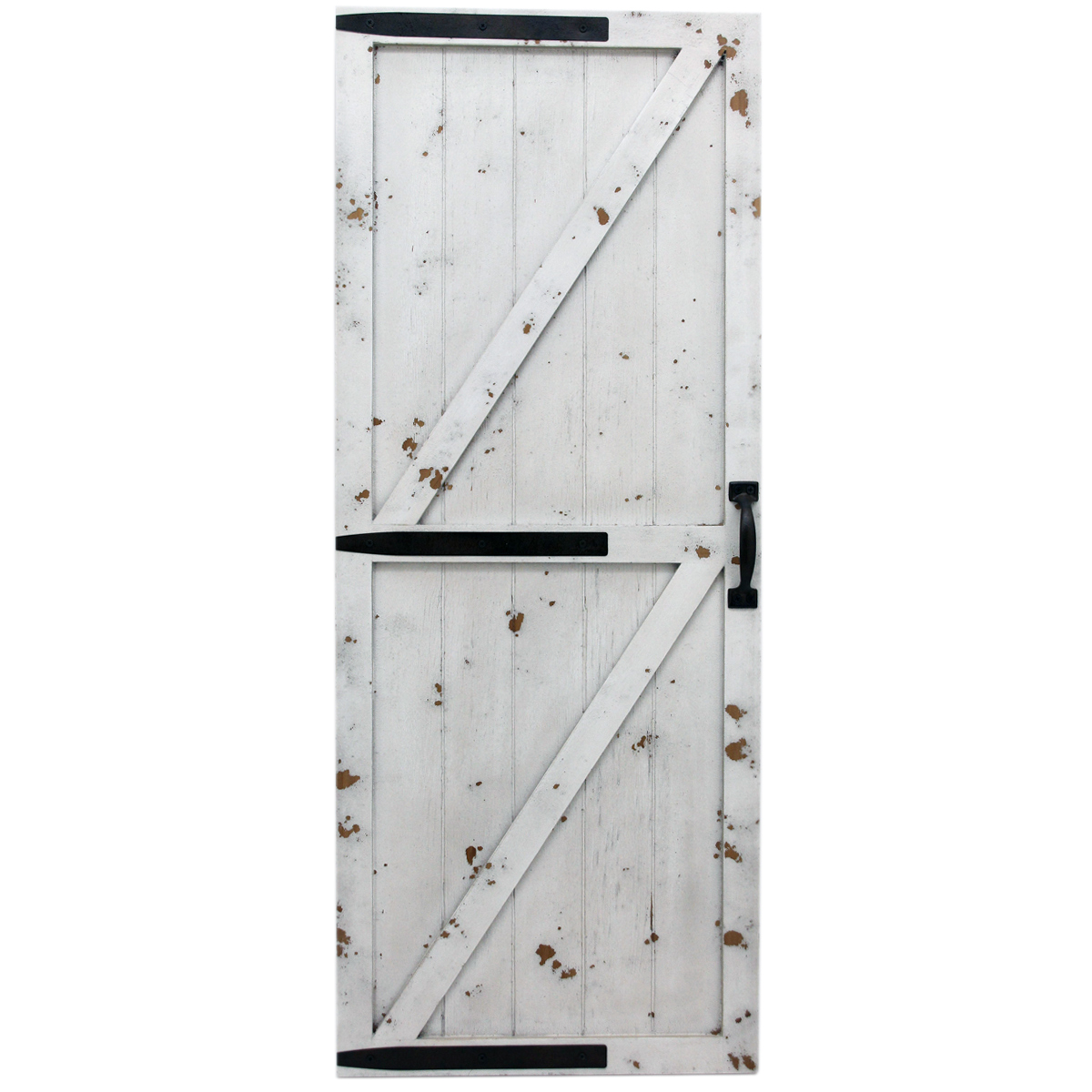 Weathered White Barn Door Wall Art