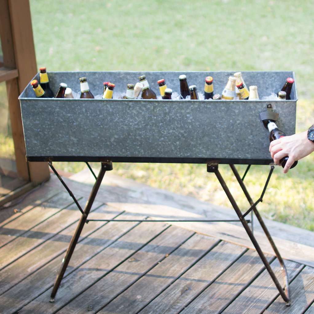Wesley Gorge Drink Tub & Stand with Bottle Opener