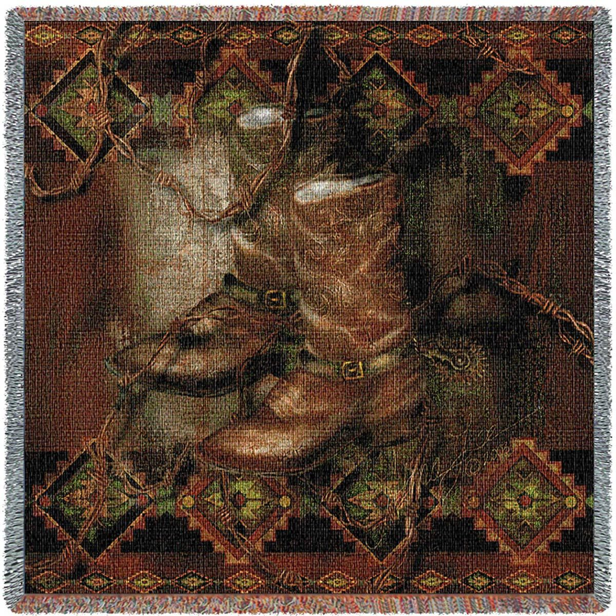 Western Boot Small Blanket